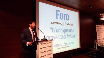 """López Miras dice que no le """"duele en prendas"""" pedir perdón por Gürtel aunque no tienen """"nada que ver"""" con él"""