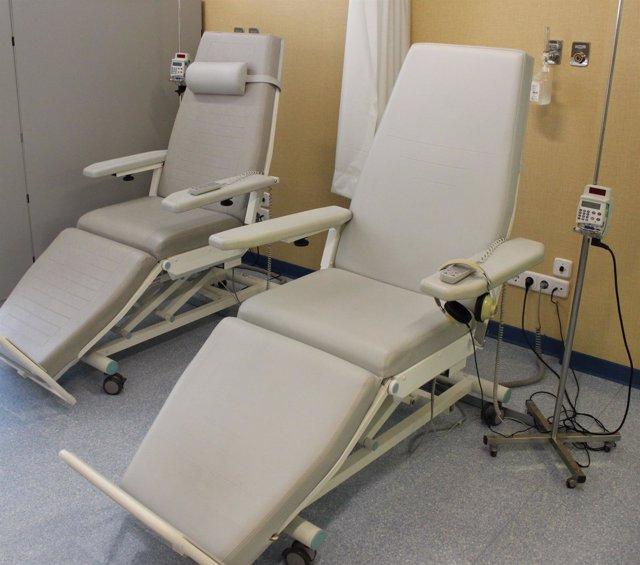 Quimioterapia, radioterapia,  tratamiento del cáncer, camilla, camillas