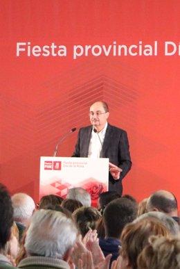 El líder de los socialistas aragoneses, Javier Lambán.