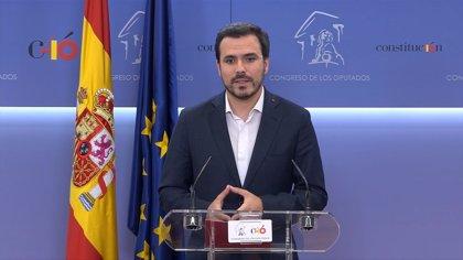 """IU confirma su apoyo a Sánchez y avisa a Cs que si no hace lo mismo, será """"corresponsable"""" de la corrupción del PP"""