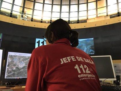 El 112 gestiona hasta las 12 horas un total de 205 avisos por la lluvia