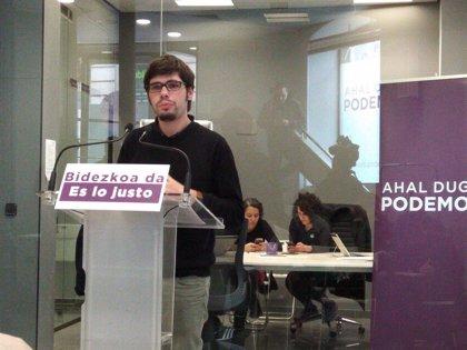"""Podemos Euskadi tiene """"serias dudas"""" de que el PNV vote a favor de la moción de censura"""