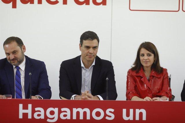 Sánchez preside una reunión extraordinaria de la Comisión Ejecutiva Federal