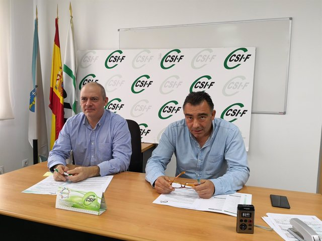 José Brunete, a la derecha (CSIF)
