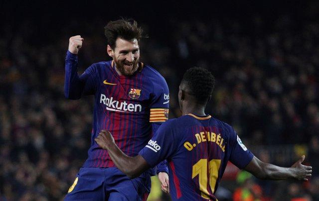 Leo Messi en el partido contra el Girona