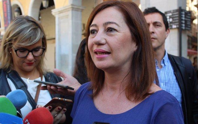 Armengol apoya la moción de censura a Rajoy y apuesta por la 'regeneración democrática con un Gobierno de izquierdas'