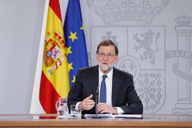 Rajoy comparece tras presentar el PSOE la moción de censura