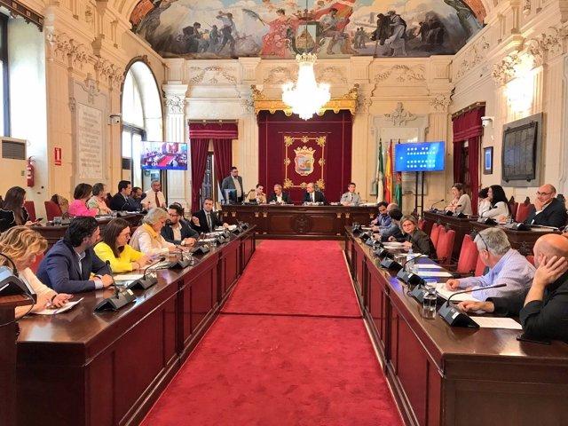 Pleno extraordinario de presupuestos del Ayuntamiento de Málaga