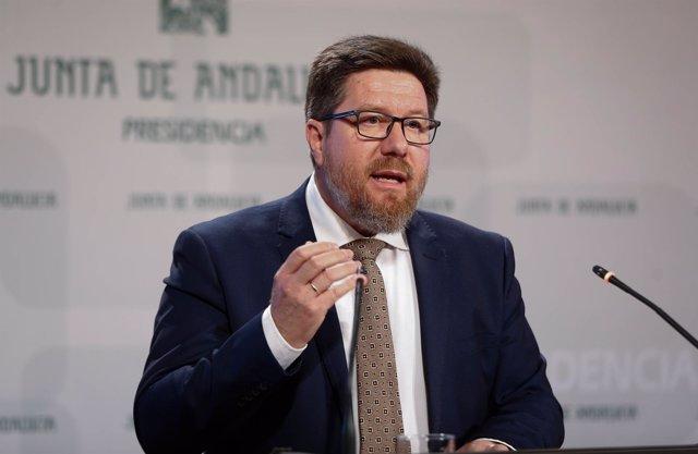 Rodrigo Sánchez Haro, en una rueda de prensa días atrás.
