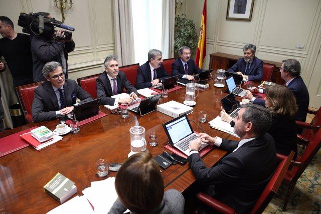 Primera reunió de la Comissió Permanent del CGPJ després de la seva renovació