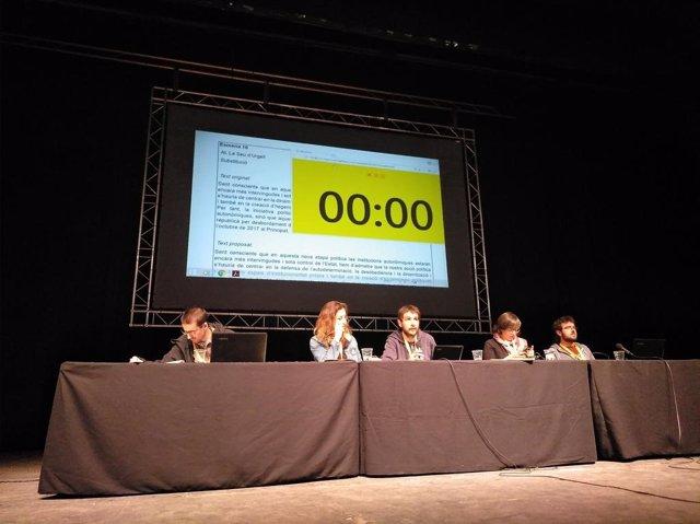 Asamblea de la CUP en Cervera (Lleida) (Archivo)
