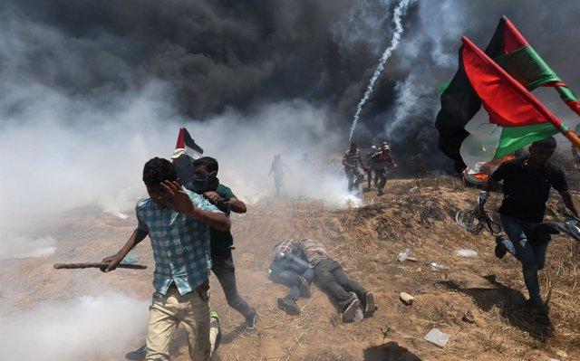 Muere un palestino herido de bala por disparos de Israel durante las protestas de la semana pasada en Gaza