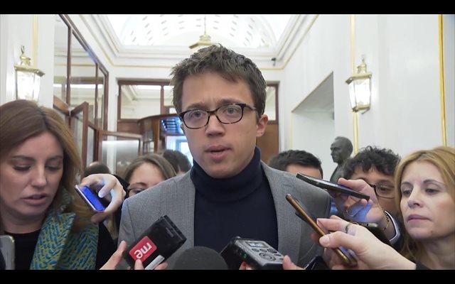Errejón insta a Ciudadanos a respaldar la moción de censura del PSOE y no sacar la 'calculadora' de votos