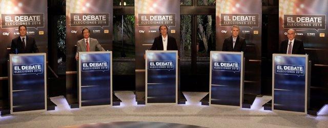 Colombian presidential candidates German Vargas Lleras, Gustavo Petro, Sergio Fa