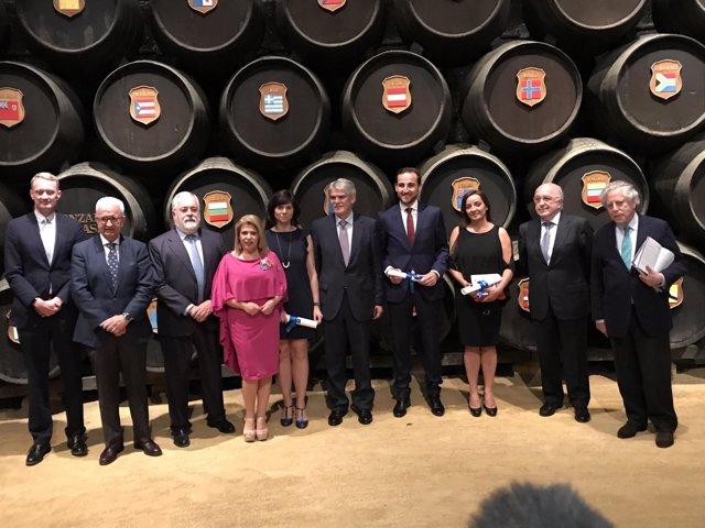 Entrega de los premios en Jerez