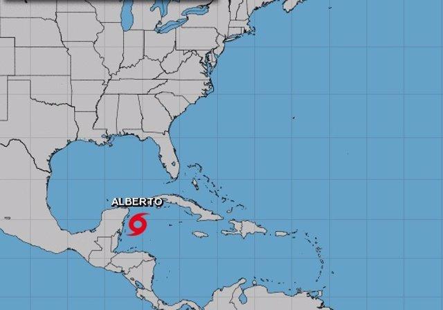 La tormente subtropical 'Alberto' se dirige hacia el Golfo de México