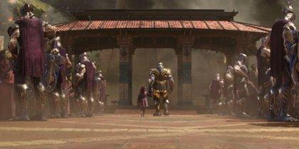 Estremecedor cartel de Infinity War con Thanos y Gamora