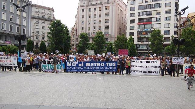 Concentración contra Metro-TUS