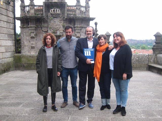Los diputados de En Marea en el Congreso en Santiago