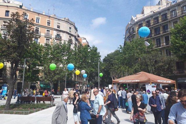El Mercado de Sant Antoni celebra su reapertura