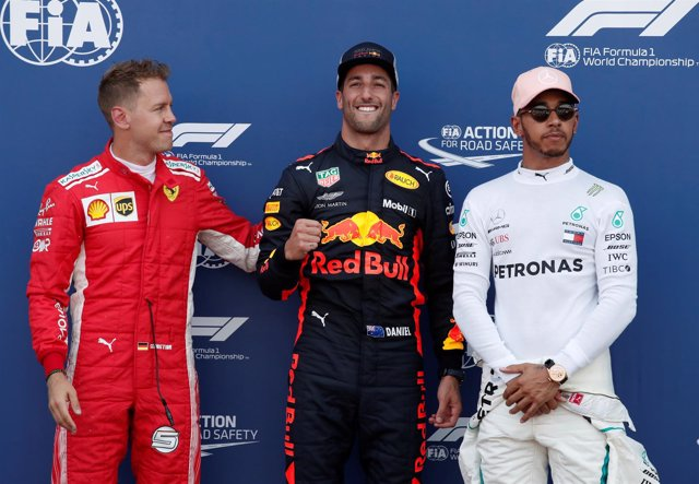 Pole Mónaco Sebastian Vettel Daniel Ricciardo Lewis Hamilton
