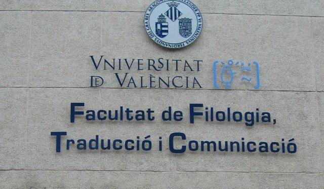 Fachada de la Facultad de Filología de la UV