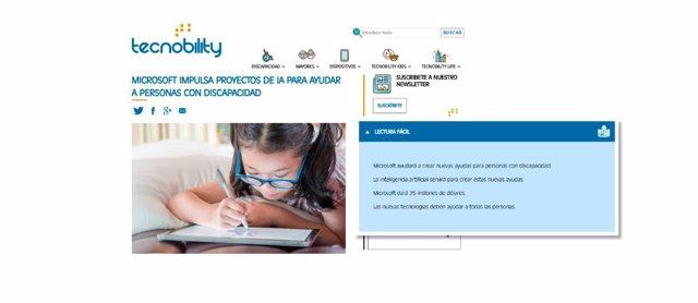 'Tecnobility' Ofrece Todas Sus Noticias En Versión De 'Lectura Fácil'