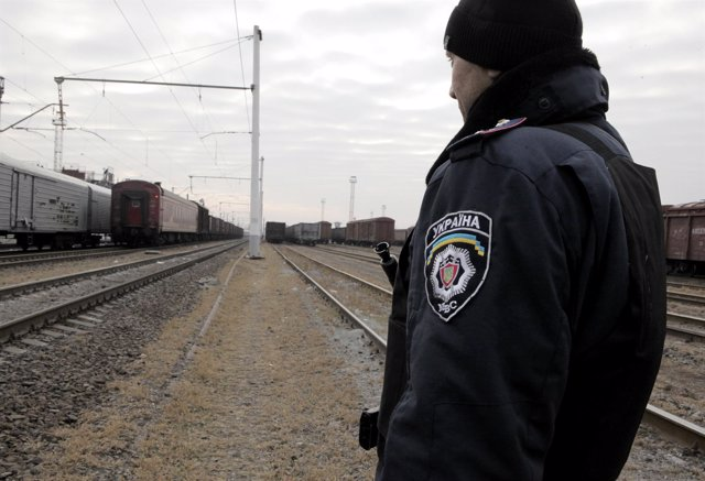 Policía ucraniano en Jarkov