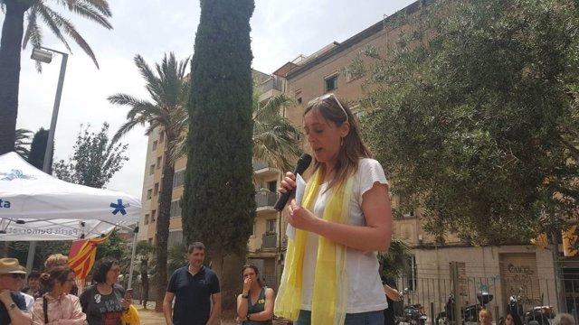 La hermana de Carles Puigdemont, Montse Puigdemont