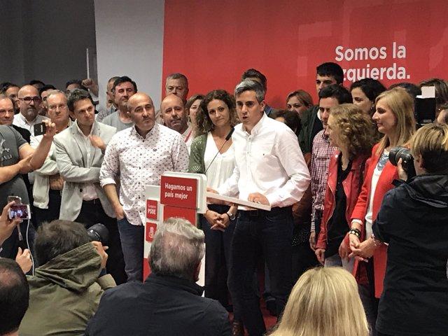 Pablo Zuloaga interviene ante la militancia tras ganar las primarias