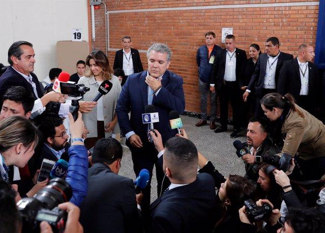 El candidato a presidente del Partido Centro Democrático, Iván Duque