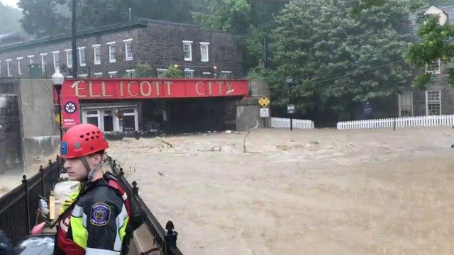 Inundaciones en Ellicott City, Maryland, Estados Unidos.