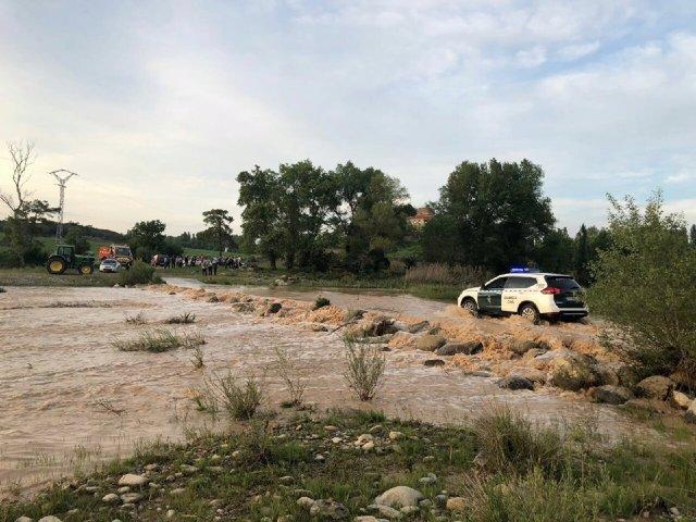 Auxiliadas más de 35 personas por una crecida en el río Guarga.