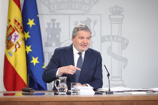 Roda de premsa d'Iñigo Méndez de Vigo després del Consell de Ministres