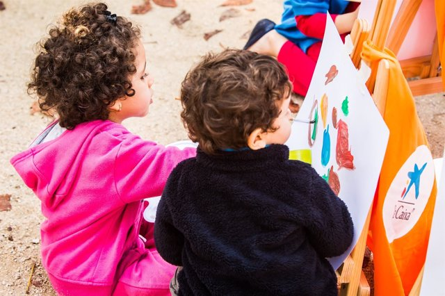 Niños del programa CaixaProinfancia de la Obra Social La Caixa