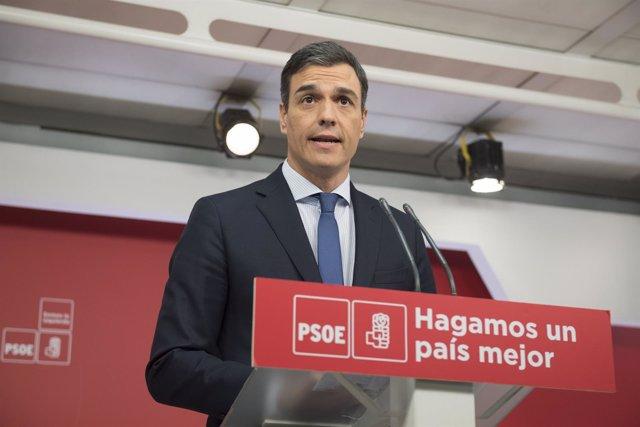 Rueda de prensa de Sánchez tras la reunión de la Comisión Ejecutiva Federal