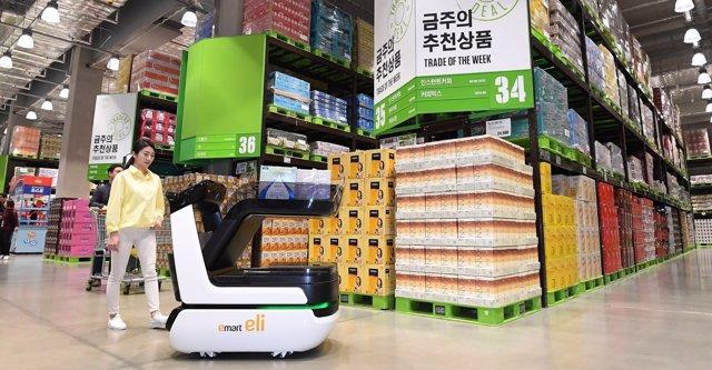 Una empresa valenciana diseña el primer carrito de compra inteligente