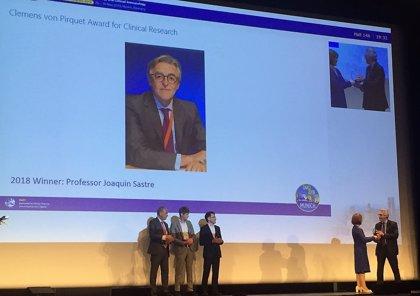 El doctor Joaquín Sastre galardonado con el Premio Clemens Von Pirquet 2018 por su trabajo en alergología