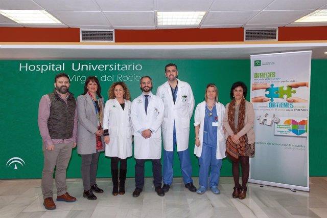 Equipo de trasplantes del Hospital Virgen del Rocío