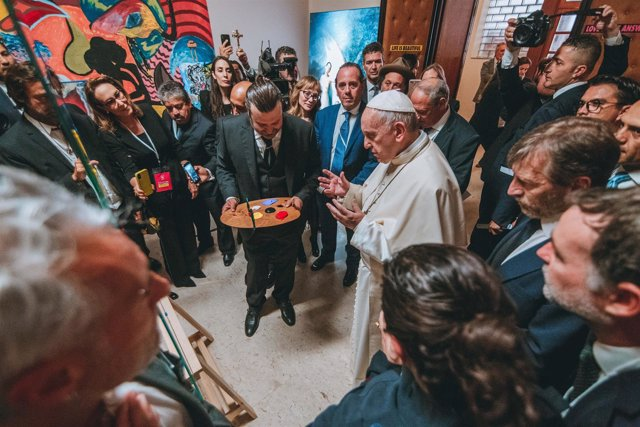 Artistas con el Papa Francisco