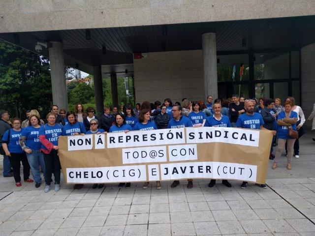Funcionarios de justicia se concentran en Vigo
