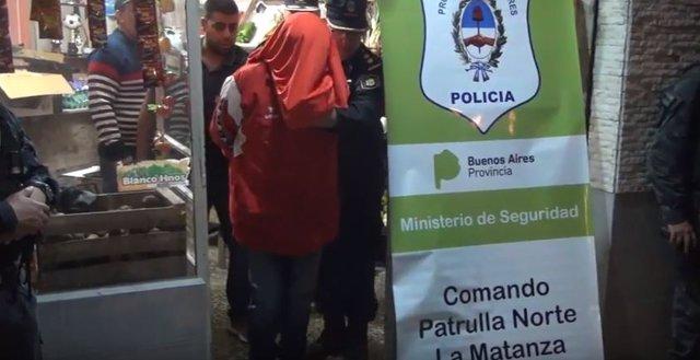 Delincuentes detenidos en una verdulería de La Matanza, Argentina
