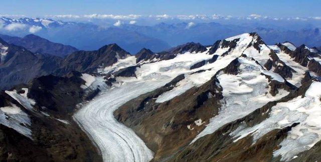 Glaciar en los Alpes