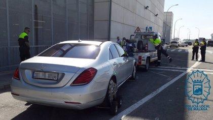 La Policía Local de Málaga denuncia a 195 vehículos VTC desde 2017