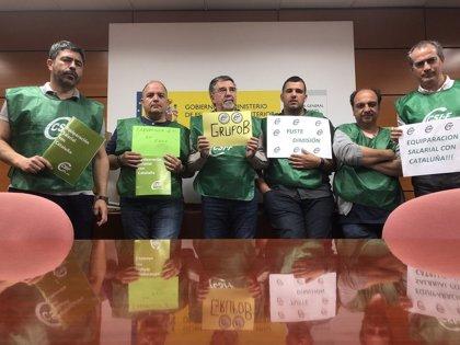 Delegados de CSIF cumplen 24 horas de encierro en Instituciones Penitenciarias por una subida salarial como los policías