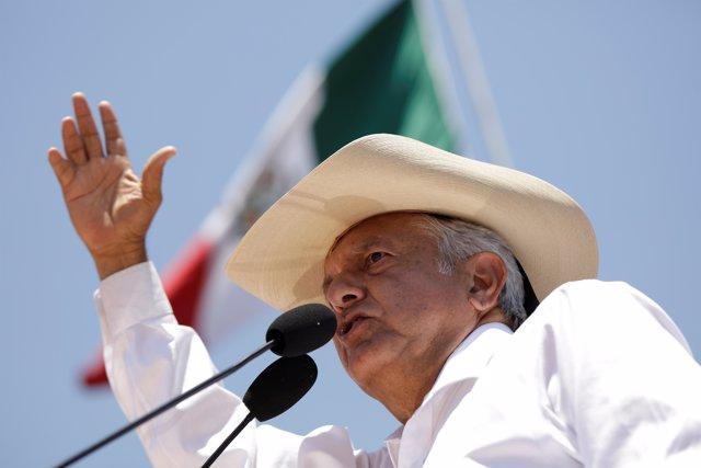 El líder izquierdista mexicano Andrés Manuel López Obrador