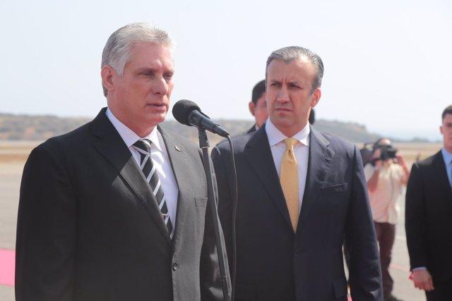 Presidente de Cuba llegó a Venezuela este miércoles