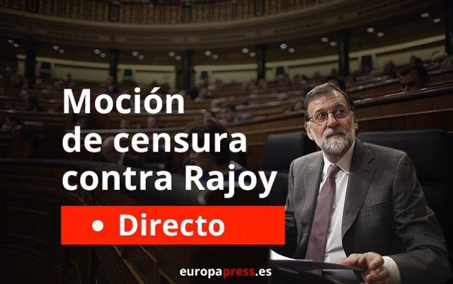 Moción de censura de Rajoy, últimas noticias