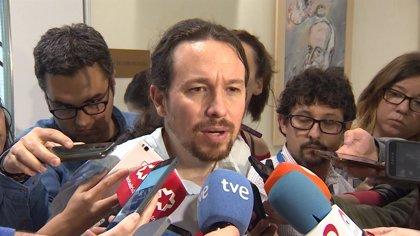 """Pablo Iglesias, ante la moción de censura: """"Creo que va a salir"""""""