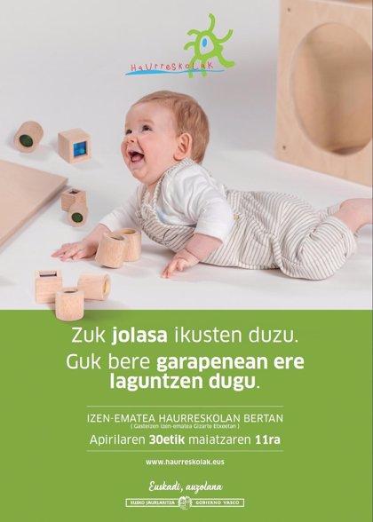 Save The Children, satisfecho con que el Gobierno Vasco permita a niños vulnerables acceder a haurreskolak gratuitas